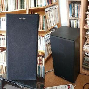 Sharp CP-W7H  3 WEGE   Stereo Hifi Lautsprecher Boxen 8 Ohm  40/80 W  schwarz