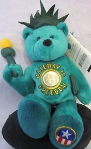 Limited Treasures 50 States of America Coin Plush Bear Lady Liberty Freedom Bear