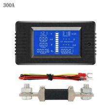 LCD DC Battery Monitor Meter 0-200V Volt Amp Cars Solar System Shunt 300A TTBB