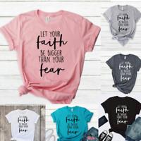 Women Summer Faith Shirts Tops Casual Christian Gifts Short Sleeve T-shirts Top