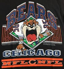 Vintage Mens M 1992 Chicago Bears NFL Football Taz Looney Tunes NOS T-Shirt