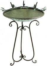 Iron metal Birds on a branch Birdbath Outdoor Lawn Garden Patio Bird Bath