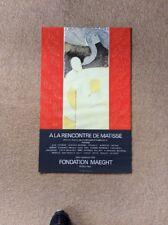 1969 Original HENRI MATISSE Ala Rencontre Exhibition Poster Foundation Maeght
