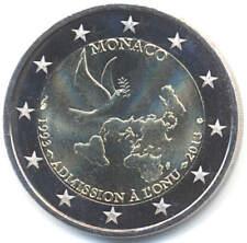 MONACO 2 EURO GEDENKMÜNZE 2013 - 20 Jahre UNO-Mitgliedschaft