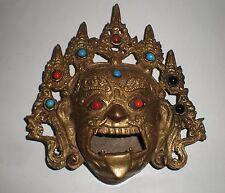 Antique wall mask / burner from Burma, bronze / brass (tt)