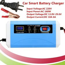 12V/24V Automatic Smart Battery Charger Intelligent Jump Starters Car Motorcycle
