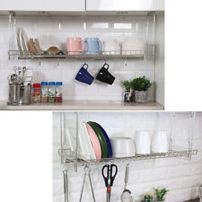 """31"""" Stainless Dish Drying Sink Cabinet Fixing Rack Ladle Cup Shelf Sink Kitchen"""