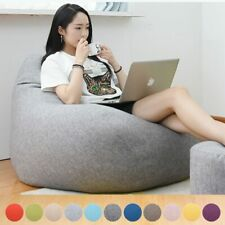 Large Bean Bag Chair Sofa Kids Durable Lounger Cozy Cover Indoor Outdoor Couch