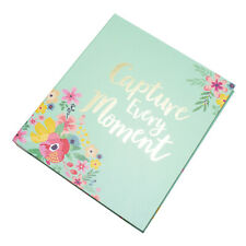 """Pretty Pale Green Floral Photo Album 120 Photographs 6"""" x 4"""" Picture Book Gift"""