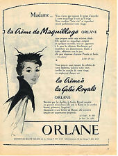 PUBLICITE ADVERTISING  1955   ORLANE  cosmétiques GELEE ROYALE