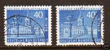 Berlin Sc 9N131, 9N131 var used 1957 40pf Castle, 2 shades VF