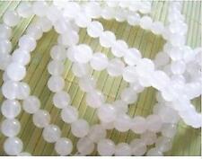 6mm,blance  Jade Perles rondes en pierre gemme en vrac,  38cm