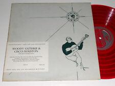 WOODY GUTHRIE CISCO HOUSTON Red colored Vinyl MONO DG Stinson SLP 44
