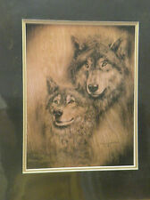 """Donna Jacobson Print """"SOUL MATES"""" Wolves Limited Edition ARTIST PROOF # 28/25"""
