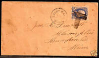 US FANCY CANCEL COVER ~ SAINT PAUL 'T' MONOGRAM ~ COLE #Lt-7