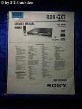 Sony Service Manual RDR GX7 DVD Recorder (#6226)