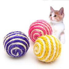 1/2/3X Katzenspielzeug Spiel Katze Haustier Sisal Seil Ball Rassel für Katze