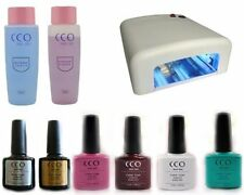 Professional CCO UV Nail Gel Polish Starter Kit Set with ANY 4 COLOUR GELS!!!!