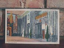 Vintage Linen Postcard Memorial Hall State Capitol Baton Rouge LA