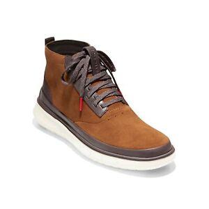 Cole Haan Men High Top Sneaker Generation Zerogrand High Top US 8.5M Brown Suede