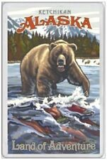 ALASKA BEAR - JUMBO FRIDGE MAGNET - UNITED STATES AMERICA JUNEAU ANCHORAGE