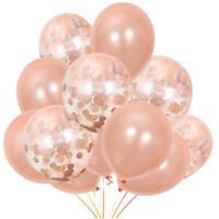 30pc Rose Gold Latex Konfetti Luftballons Hochzeit Geburtstag Ballon Party TCP