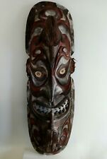 Tribal Large Oceanic Papua New Guinea Wooden Mask Board