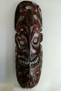 Tribal Large Oceanic Papua New Guinea Wooden Mask Board