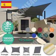Toldo Para jardín Vela de Sombra Rectángulo Impermeable Protección UV 98% Rayos
