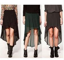 Chiffon Casual Asymmetrical Skirts for Women