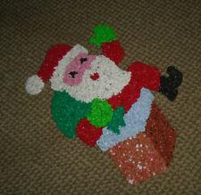 MELTED PLASTIC POPCORN Christmas Santa in Chimney