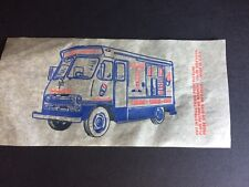 "1960's ""Mr. Softee"" , ""Un-Used"", Iron-On Decal  (Ice Cream Truck)"
