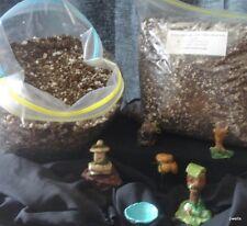 8 Qt Terrarium Soil & Free Moss/Gravel/Sand/Miniatur e/charcoal -w/inst PsNature