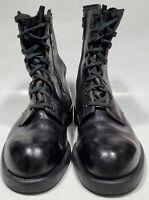 Men's Size 9B Thorogood Zippered Safety Toe  Work Boot Black Leather 804-6116