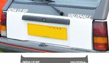 Vauxhall Nova 1.3 SR Hatch lid replacement Decal Sticker Boot tailgate