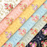 Cotton Fabric by FQ Vintage Royal Flower Bouquet Retro Print Dress Quilting VK83