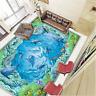 3D Marine Dolphin 403 Floor WallPaper Murals Wall Print 5D AJ WALLPAPER AU Lemon