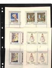 Czechoslovakia sheet of stamps  MNH  1971 Art  8 sheets of 4 in auction (mb9