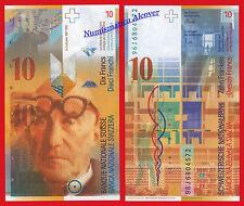 SUIZA SWITZERLAND SUISSE 10 Francs franchi 1996 Pick 66b  SC /  UNC