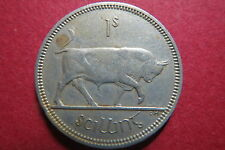 "IRELAND,  1963  Irish 1 SCILLING (Florin) BULL FEAST, ""VF"" Circulated"