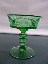Fenton Green Glass Lincoln Inn Champagne or Sherbet Goblet Item 1074