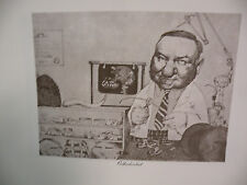 "Art print Charles Bragg artist black Lithograph ""ORTHODONTIST"" Duotone Signed"