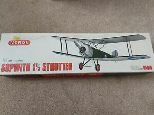 "Veron RC Sopwith 1 1/2 Strutter Balsa Model, 48"" Span"
