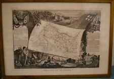 Lithographie LEVASSEUR. c: 1854. Bouches du Rhône n° 12. Cadre vitré 38 x 54 cm