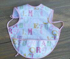 Baby Bib Waterproof Pocket Bib Bapron Bib Tie Bib Apron Bib Pink Alphabet
