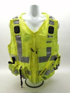 Ex Police Hi Vis Tactical Utility Vest Yaffy Security Uniform Safety Emergency
