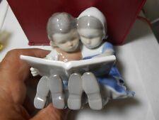 "Bing & Grondahl Vintage Figure ""Boy & Girl Reading #1567 1St Quality Look Wow"