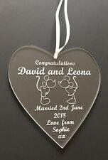 mariage personnalisé Mariée et marié cadeau Cœur Disney a thème