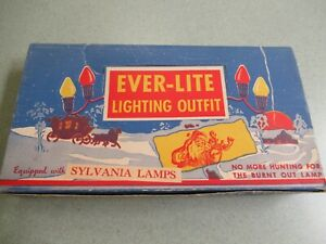 Vintage Ever-Lite Christmas Tree lighting outfit