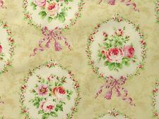 Deko Stoffe Japan Lecien Rosenstoffe rosa beige Rosen Schleifen Rosenbilder BW